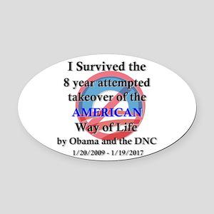 I Survived Obama Oval Car Magnet