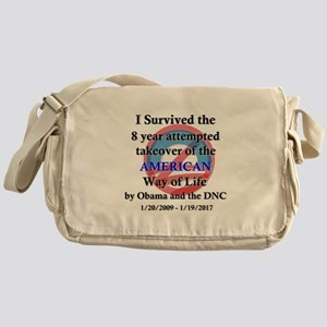 I Survived Obama Messenger Bag