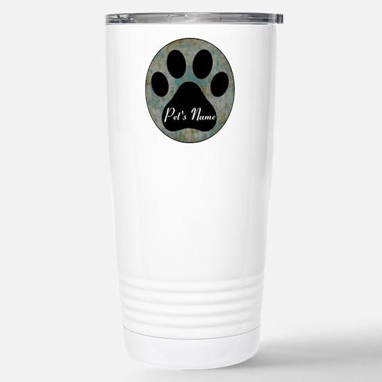 Personalized Paw Print Travel Mug