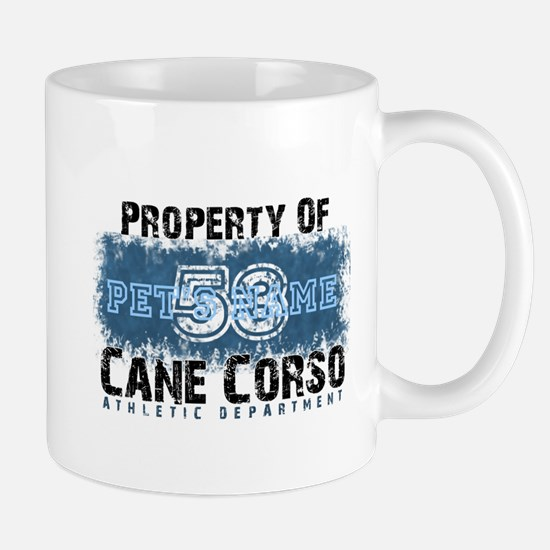 Personalized Cane Corso University Mugs