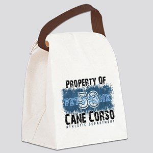 Personalized Cane Corso University Canvas Lunch Ba
