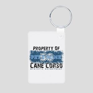 Personalized Cane Corso University Keychains