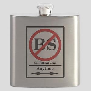 No Bullshit Zone Flask