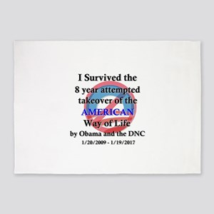 I Survived Obama 5'x7'Area Rug