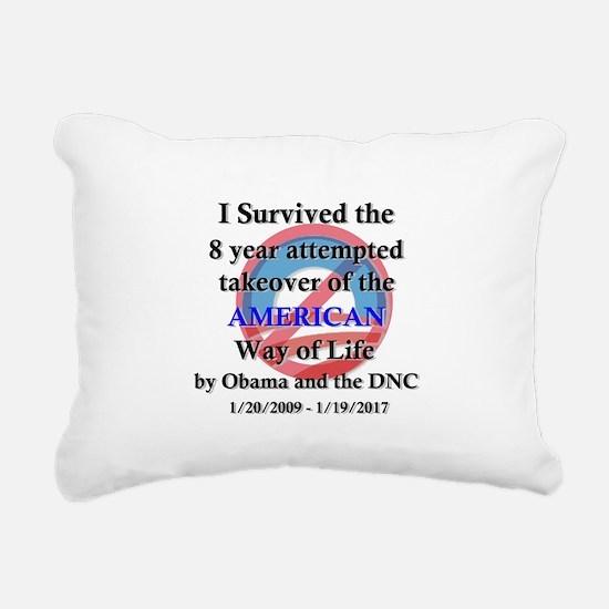 I Survived Obama Rectangular Canvas Pillow