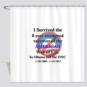 I Survived Obama Shower Curtain