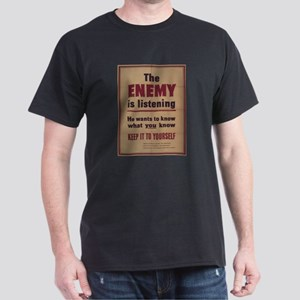 Vintage poster - The Enemy is Listening T-Shirt