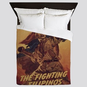 Vintage poster - The Fighting Filipino Queen Duvet