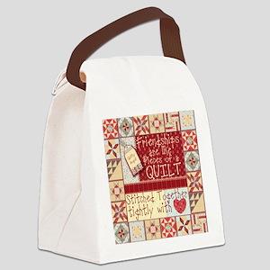 Friendship Quilt Canvas Lunch Bag