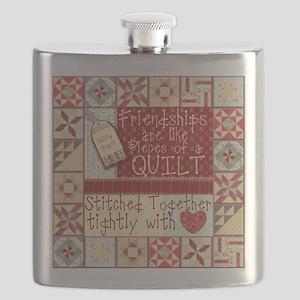 Friendship Quilt Flask