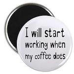 When My Coffee Starts Working Magnet