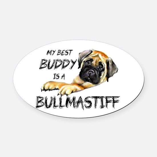 Bullmastiff Oval Car Magnet