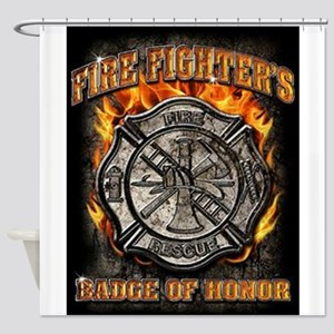 Badge Of Honor Shower Curtain