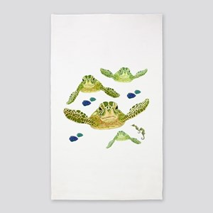 Sea turtles, fish and sea horses 2 Area Rug