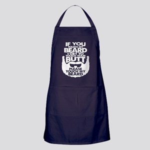 Touch My Beard T Shirt Apron (dark)