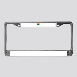 dog and cat License Plate Frame