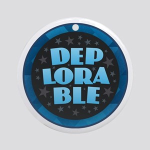 DEPLORABLE Round Ornament
