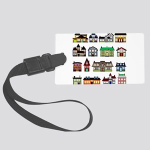 Tiny Town Houses Luggage Tag