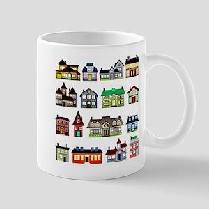Tiny Town Houses Mugs