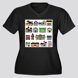 Tiny Town Houses Plus Size T-Shirt