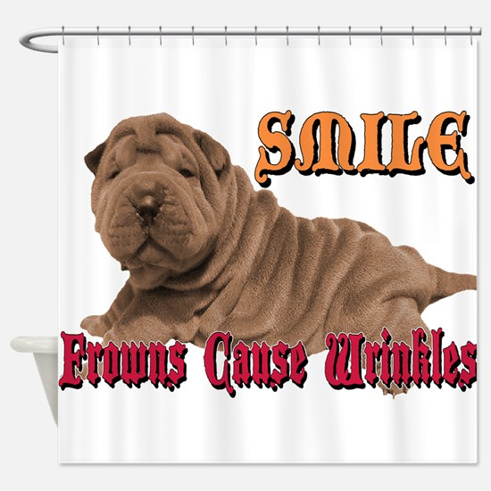 Smile Wrinkles Shower Curtain