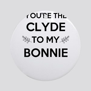 Bonnie and Clyde shirts Round Ornament
