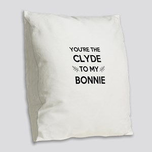 Bonnie and Clyde shirts Burlap Throw Pillow