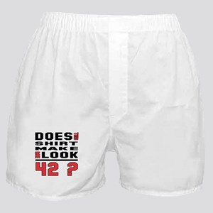 Does This make me look 42 ? Boxer Shorts