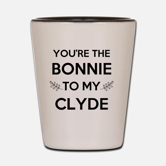 Bonnie and Clyde shirts Shot Glass