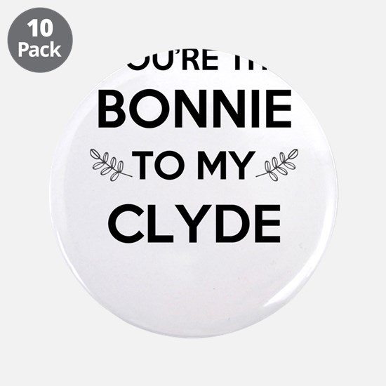 "Bonnie and Clyde shirts 3.5"" Button (10 pack)"