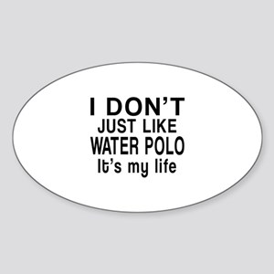 Awesome Water Polo Sports Designs Sticker (Oval)