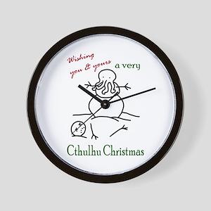Cthulhu Christmas Wall Clock