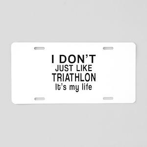 Awesome Triathlon Sports De Aluminum License Plate