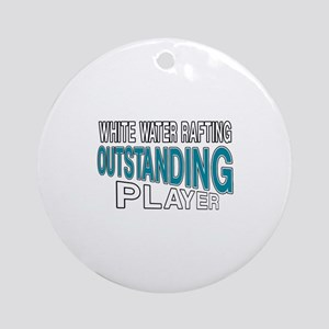 White Water Rafting Outstanding Pla Round Ornament