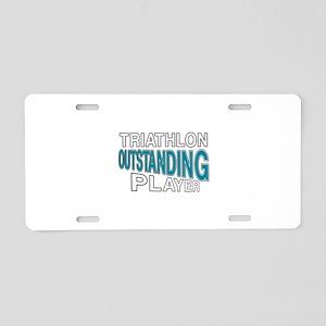 Triathlon Outstanding Playe Aluminum License Plate