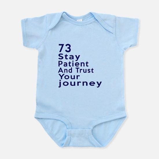 Awesome 73 Birthday Designs Infant Bodysuit