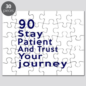 Awesome 90 Birthday Designs Puzzle