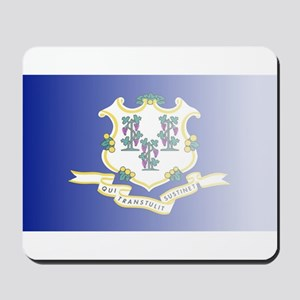 Connecticut State Flag Fade Background Mousepad