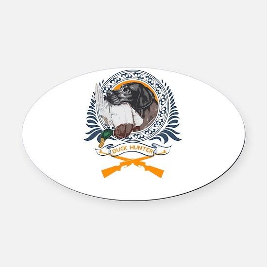 duck hunter Oval Car Magnet