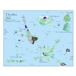 Bis World Map Small Poster