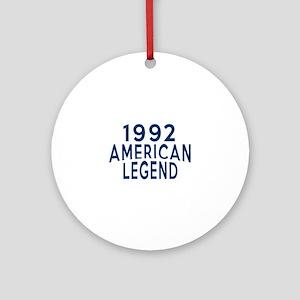 1992 American Legend Birthday Desig Round Ornament