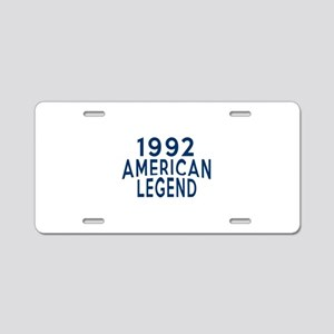 1992 American Legend Birthd Aluminum License Plate