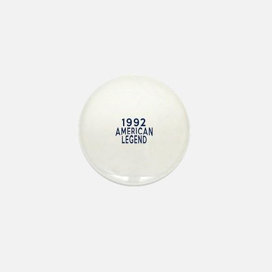 1992 American Legend Birthday Designs Mini Button