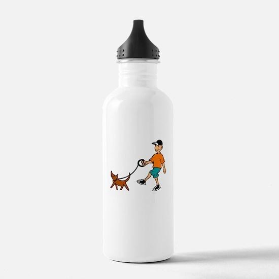 walking dog Water Bottle