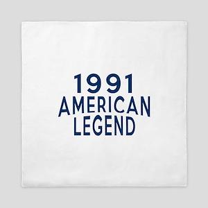 1991 American Legend Birthday Designs Queen Duvet