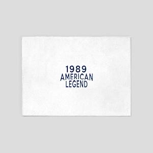 1989 American Legend Birthday Desig 5'x7'Area Rug