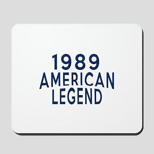 1989 American Legend Birthday Designs Mousepad