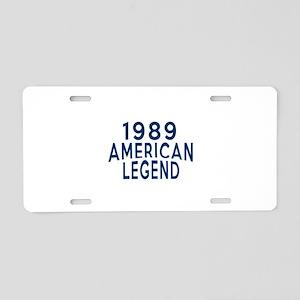 1989 American Legend Birthd Aluminum License Plate