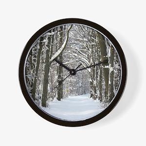Snow trail Wall Clock