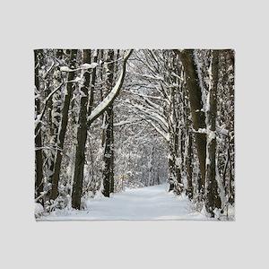 Snow trail Throw Blanket